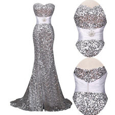SPARKLY SEQUINS Masquerade Mermaid Dress Evening Gowns LONG FORMAL Prom Dress