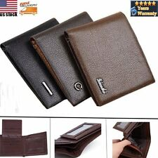 Stylish Mens Soft Leather Bifold Wallet Purse Money ID Card Holder Coin Pocket