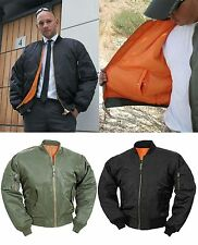 MA1 Mens Pilot Biker Army Fly Military Security Doorman Harrington Bomber Jacket