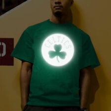 Majestic Boston Celtics Kelly Green Reflective Tek Patch T-Shirt - NBA
