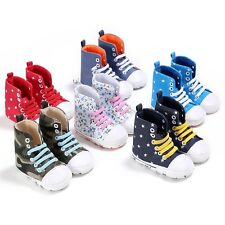 2017 Infant Baby Boy Girl Sneaker Crib Shoes Canvas Shoes Multi-color 0-18 Month