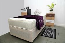 2ft6/3ft Divan Bed With Cream Base,Slider & Mattress. LAST STOCK!