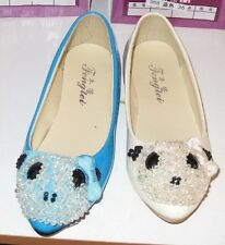 Women Spitz Flat Ballerina Ballet Dolly Pumps Ladies Flat  Shoes Model Pearls