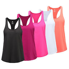 Women Fitness Sports Tank Top Seamless Blouse Stretch Vest Top GYM Workout Shirt
