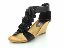 Patrizia by Spring Step HARLEQUIN Womens Black Wedge Sandals