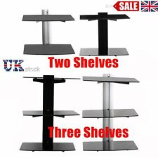 Floating Shelves 2 / 3 Tier Glass Wall Mounted TV Sky Box DVD Game Console Shelf