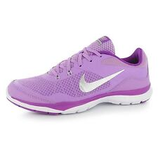 Nike Flex Trainer 5 Training Shoes Womens Fuchsia/Silver Gym Trainers Sneakers