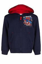 Boys Marvel Spider Man Hoodie Spiderman Hooded Top Jacket Age's 7-10 Years NEW
