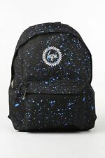 HYPE JUST HYPE Black With Navy Blue Speckle Backpack Rucksack Bag