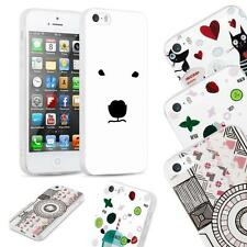 Matte Pattern Sketch Slim Silicone Soft Gel Back Case Cover - iPhone 5, 5S, SE