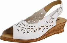 Spring Step ORELLA Womens White Leather MADE IN ITALY Comfort Slingback Sandals