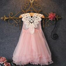 Lovely Baby Chiffon Tutu Dresses Girl Kids Baby Tulle Princess Pearl Party Dress