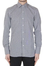 TOM FORD Men Black and White Cotton Checked Shirt Made in Italy New