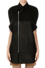 RICK OWENS LILIES Women Black CAPE Zipped Jacket  Made in Italy New with Tag