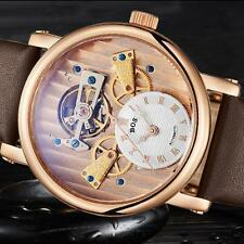 Men's Mechanical Movt Automatic Skeleton Stainless steel Watch Angela Bos R3Q4