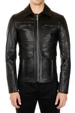 MARTIN MARGIELA MM10 Men Black Grained Leather Jacket Made in Italy