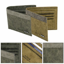 MENS LUXURY SOFT QUALITY LEATHER BIFOLD WALLET CREDIT CARD HOLDER PURSE POUCH