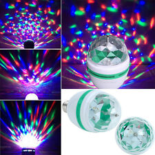 2 Size LED Rotating RGB Bulb E27 3W Party Light Crystal Ball Stage Disco Lamp RF