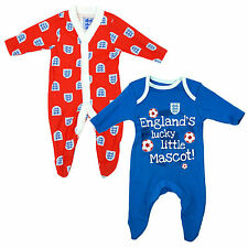 Pack of 2 Sleepsuit Baby Boys England Little Mascot Rompers 0 to 24 Months