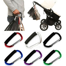 1xColoured Large Buggy Clips Pram Pushchair Shopping Bag Hook Mummy Carry Clip