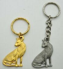RAWCLIFFE Fine Pewter 1984 Cat I LOVE MY SIAMESE Key Chain Love Kitty