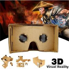 Google Android IOS Cardboard 3D Virtual Reality Glasses With Free VR Movies WT