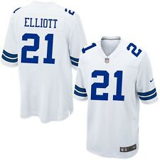 Ezekiel Elliott Dallas Cowboys #21 Adult Men M L XL White Blue Replica Jersey