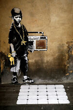 Young Boy - Hip Hop Youth by Banksy 18x12 Print Poster Urban Street Art