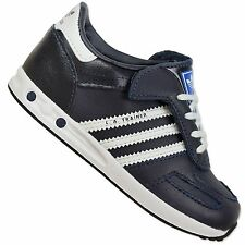 ADIDAS ORIGINALS LA TRAINER KIDS SNEAKER SHOES LEGINK BLUE WHITE LEATHER