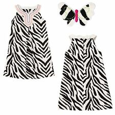 Gymboree 5 6 Wild For Zebra Girls Dress Hair Clip Outfit Set Lot New NWT