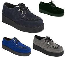 Mens Flat Platform Wedge Lace Up Creepers Chunky Punk Goth Shoes Size
