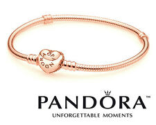 Stunning 18ct Rose-Gold Plated Pandora Moments Heart Bracelet. Perfect Gift