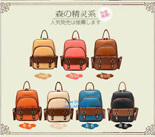 Free Shipping 2015 European Fashion Retro Casual PU Backpack Schoolbag Bookbag