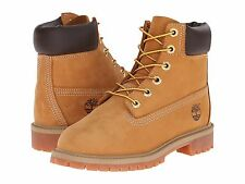Junior's Shoes Timberland 6 Inch Premium Waterproof Boots 12909 Wheat *New*