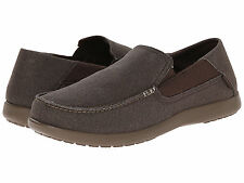 Men Crocs Santa Cruz 2 Luxe Slip ON 202056-23B Espresso Canvas 100% Original New