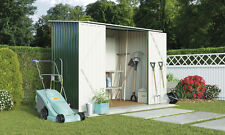 7 x 5ft Outdoor Metal Apex Roof Garden Storage Shed Sliding Doors by Waltons