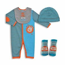 4-PIECE BABY COVERALL SET - KING OF MY FAMILY