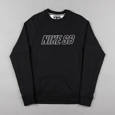 NIKE SB EVERETT REVEAL CREWNECK SWEATSHIRT BLACK 800140-010