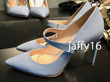 ZARA PATENT FINISH HIGH HEEL SHOES WITH STRAP SKY BLUE 35-41 REF. 1205/201