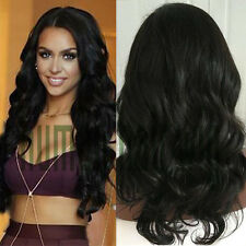 Brazilian Virgin Human Hair Wavy Wig Lace Front Glueless Remy Full Lace Wig US D