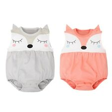 Newborn Infant Baby Boy Girls Fox Comic Cotton Clothing Romper Outfit 0-24 Month