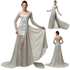 Chiffon Lace Long Formal Cocktail Prom Dress  Party Bridesmaid Evening Ball Gown