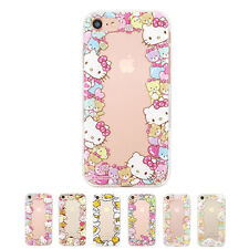 Hello Kitty Circle Cutie Jelly Protect Bumper Cover Case For Apple iPhone 5 / 5S
