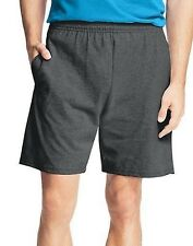 2-Hanes Men's Jersey Cotton Shorts w/Elastic Waist & Pockets S - 3XL Many Colors