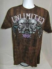 Mens new MMA Ecko Unltd t-shirt Destroyer Tee size M L Coco Brown nwt