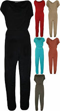 New Plus Size Womens Cowl Neck Pocket Belted Ladies Sleeveless Jumpsuit 14-28