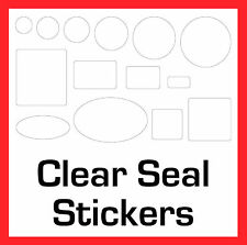 Permanent Transparent Clear Seal Stickers Sticky Labels Circles Rectangles