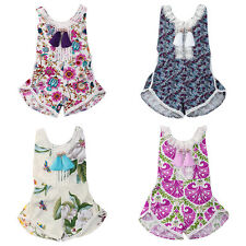 6M-6Y Toddler Kids Girls Baby Clothes One-piece Romper Jumpsuit Bodysuit Sunsuit