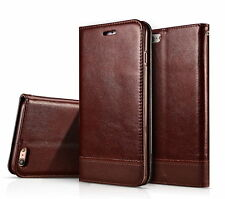 Luxury Leather Wallet Card Case Magnetic Flip Cover Stand For iPhone 5s 6s Plus
