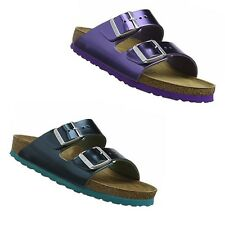 Birkenstock Arizona Metallic Dark Sapphire - Green - Violet Sandals Leather SFB